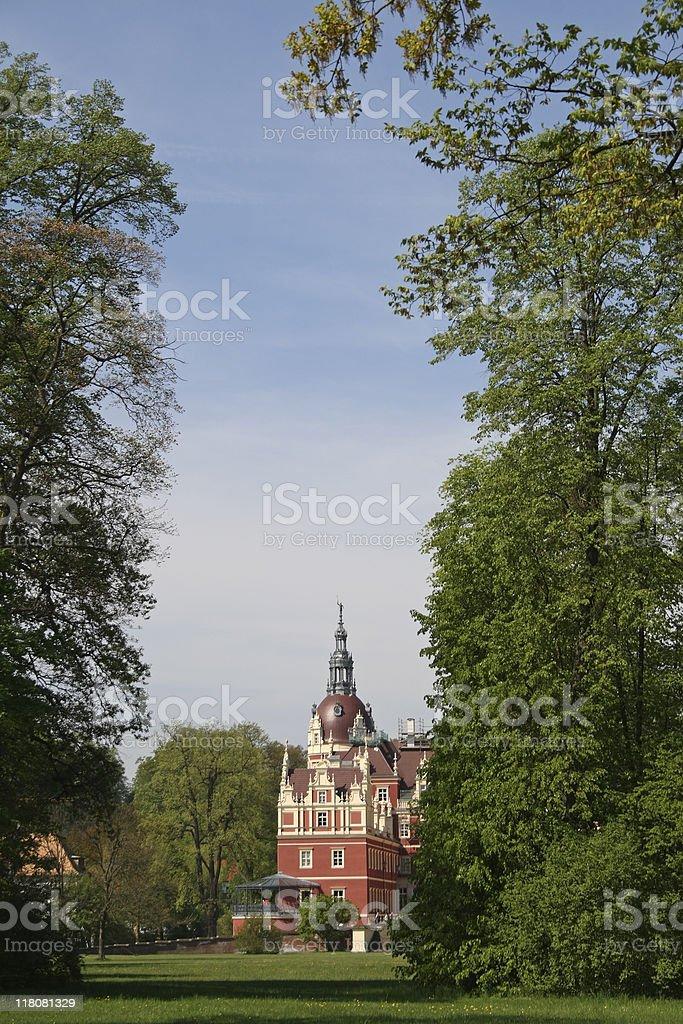 Castle Bad Muskau, Germany stock photo