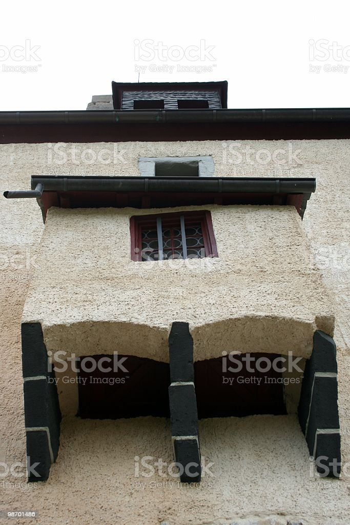 Castello di balcone foto stock royalty-free