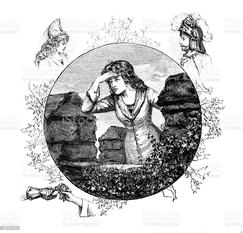 Castle based Maiden from The Troubadour stock photo