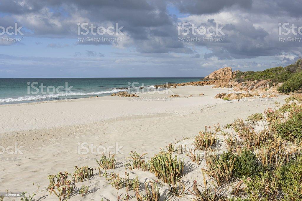 Castle Bay in the Margaret River region of Western Australia stock photo