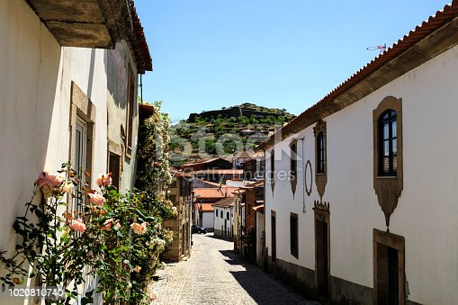 HDR Panoramic view of the historic village of Castelo Melhor, in Northern Portugal