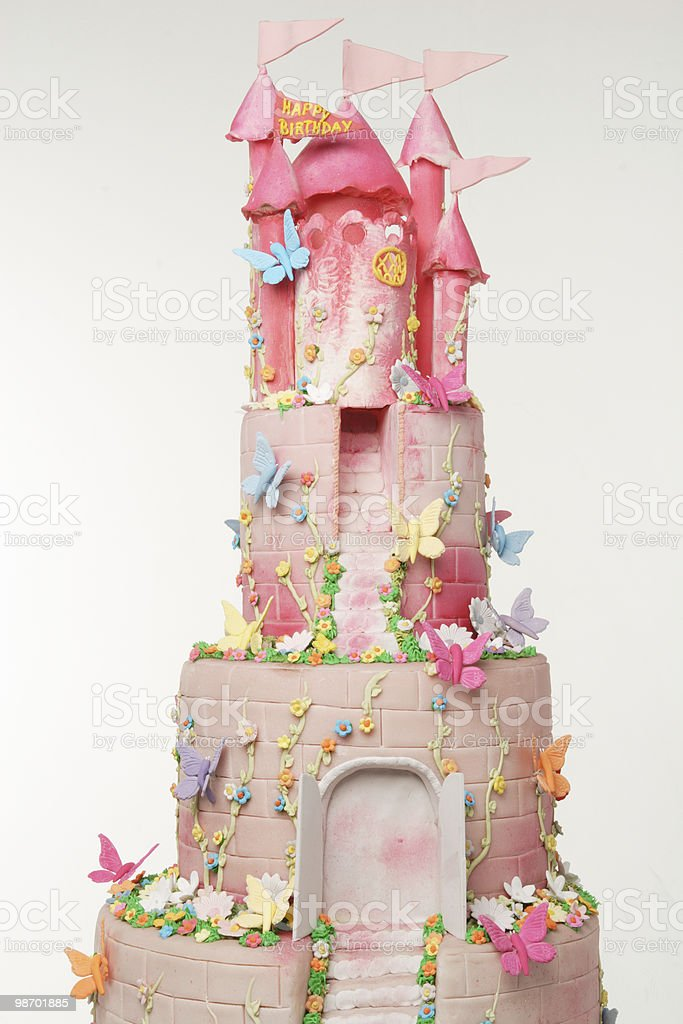 castle cake royalty-free stock photo