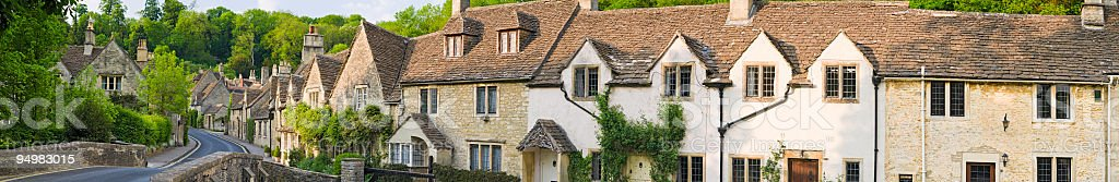 Castle Combe village panorama royalty-free stock photo