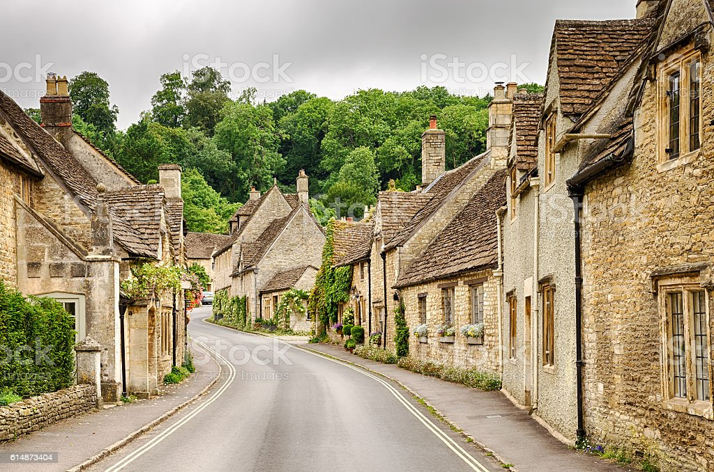 Castle Combe Village, Wiltshire, England stock photo
