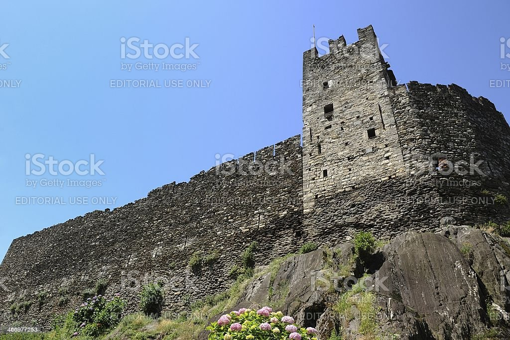 Castle Corenno Plinio on the east bank of Lake Como royalty-free stock photo