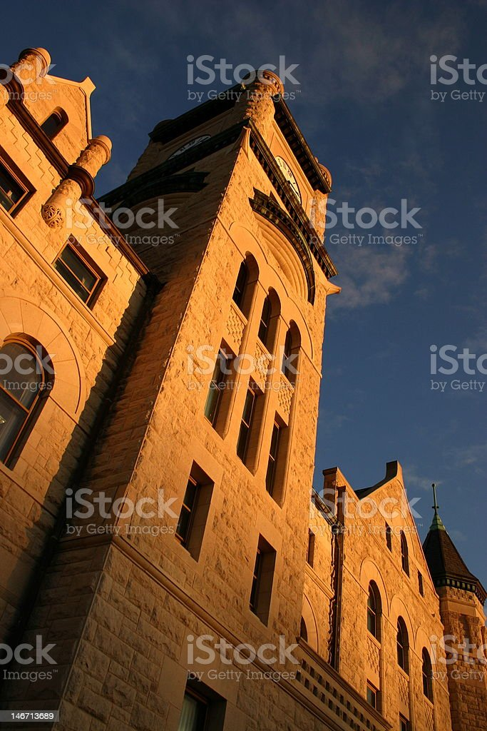 castle courthouse stock photo