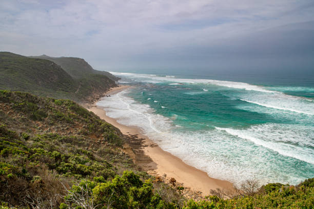 Castle Cove Lookout - Great Ocean Road stock photo
