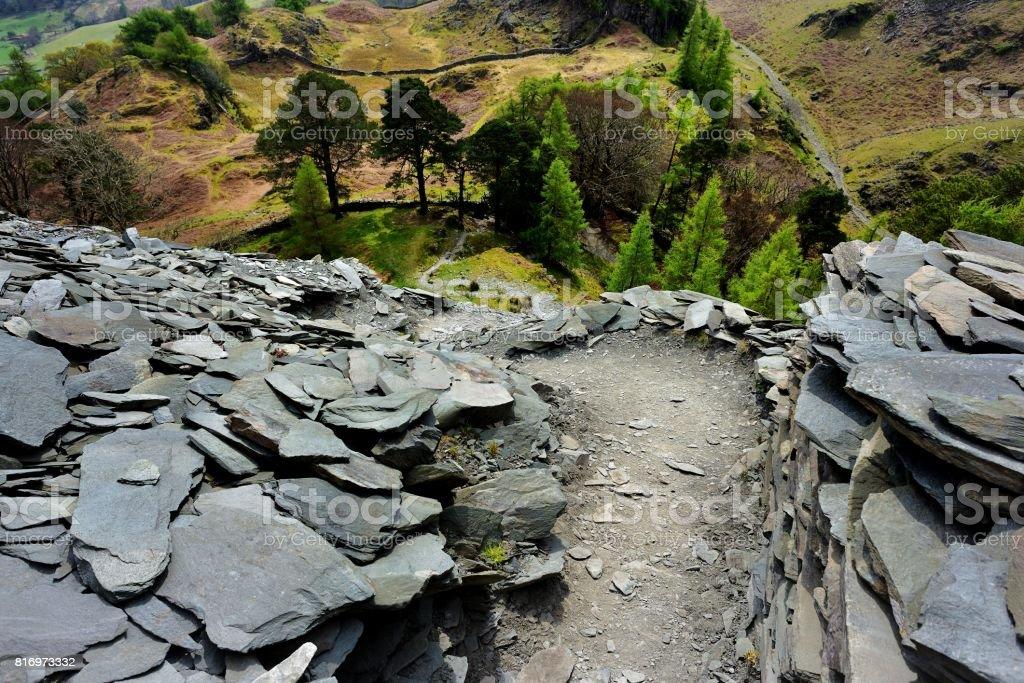 Castle Crag stock photo