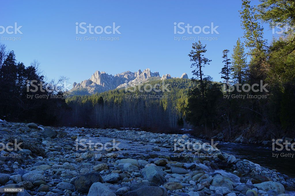 Castle Crags State Park stock photo