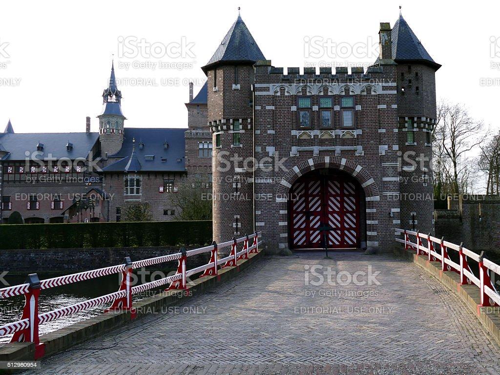 Haarzuilens, The Netherlands - December 28, 2015: Castle de Haar stock photo