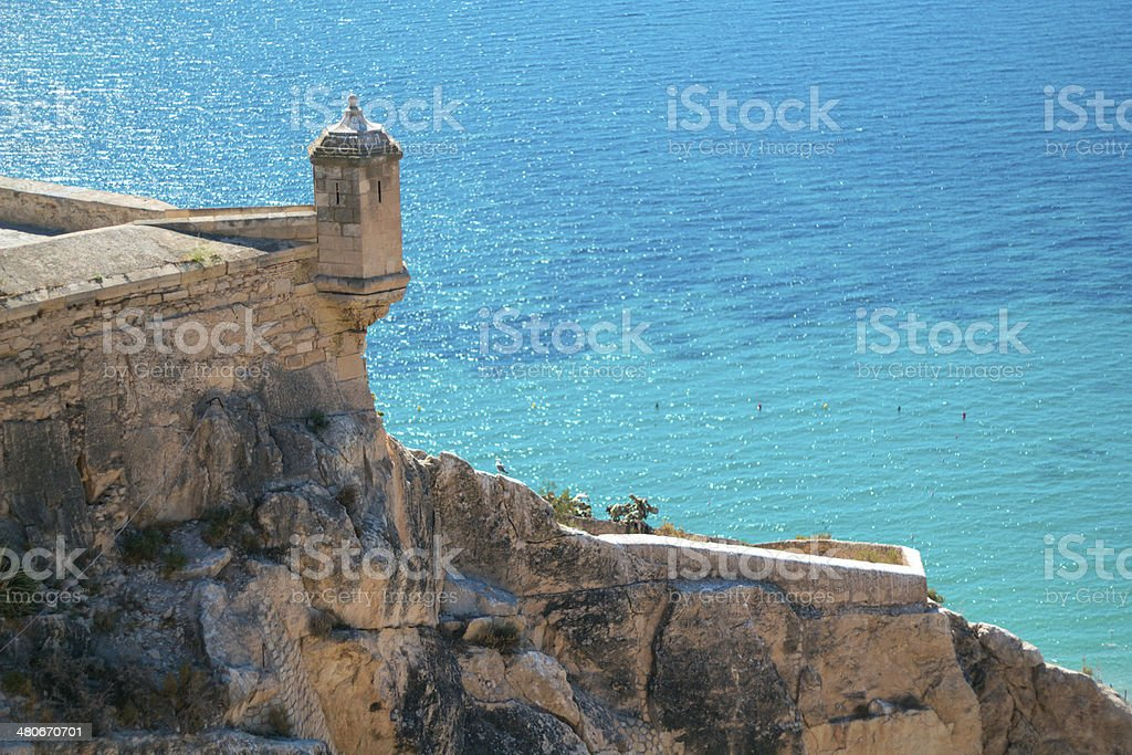 Castle-details, beach Alicante – Foto