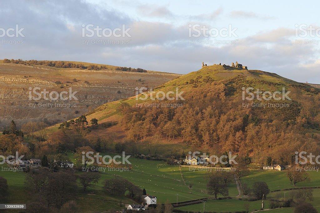 Castle Dinas Bran & The Eglwyseg royalty-free stock photo