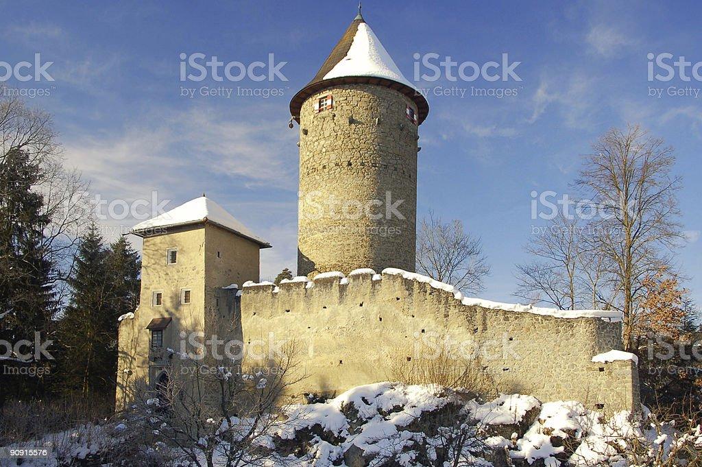 Castle Dornach in Winter stock photo