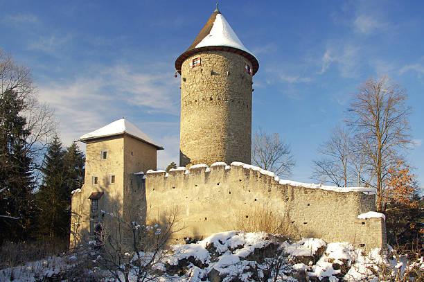 castle dornach im winter - dornach stock-fotos und bilder