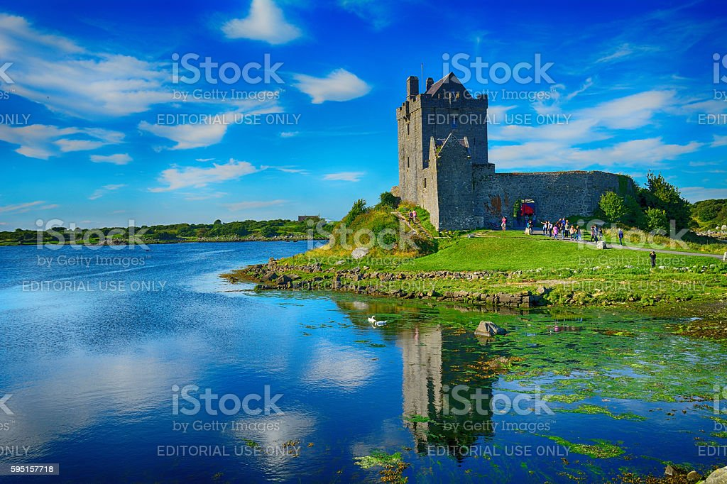 Castle, Dunguaire, Ireland stock photo