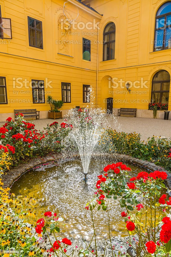 Castle Eckartsau (Schloss Eckartsau), Austria royalty-free stock photo