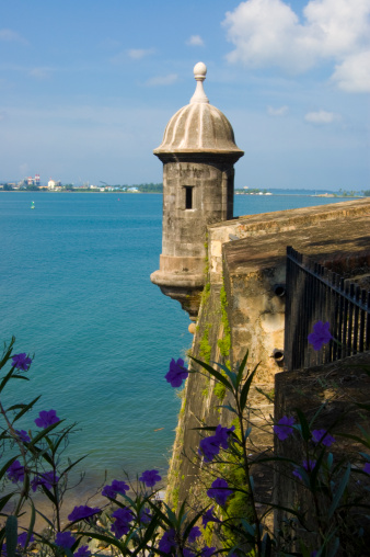 Castle El Morro Lookout Point Stock Photo - Download Image Now