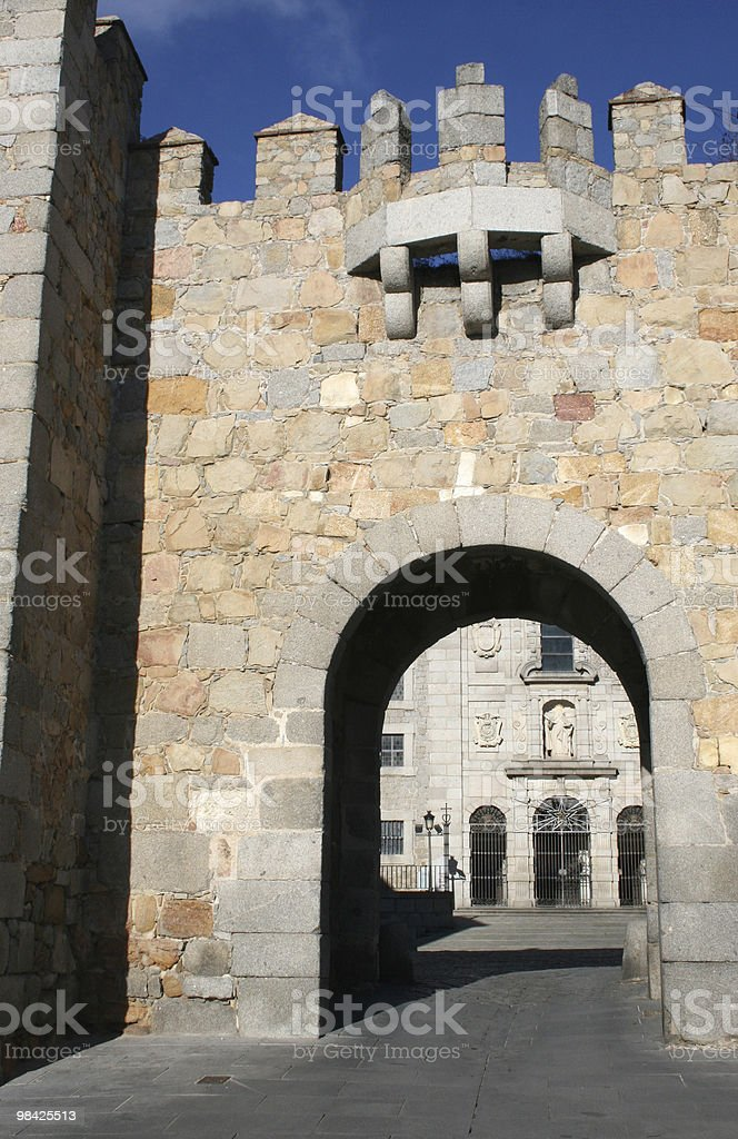 Castle entrance royalty-free stock photo