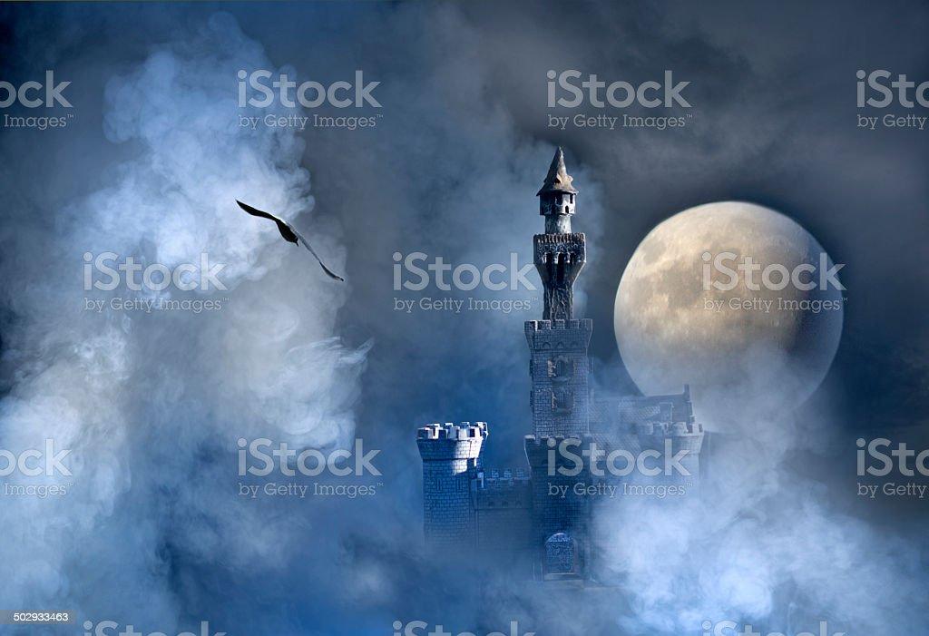 Castle fantasy stock photo