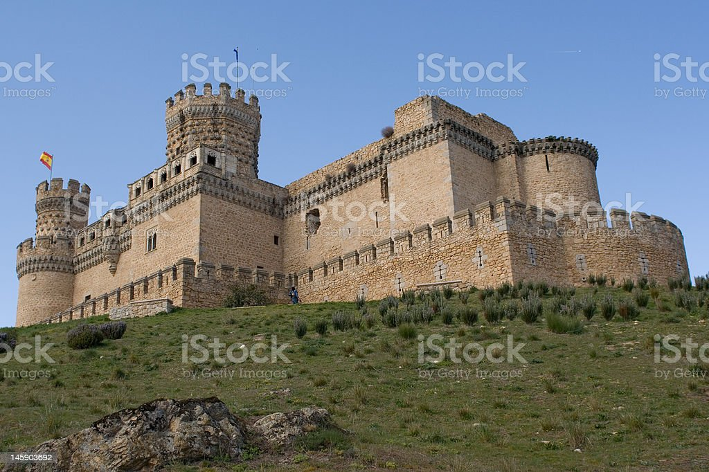 Castle fo Mendoza stock photo