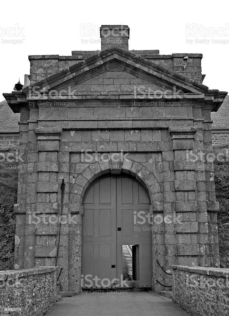 castle gates royalty-free stock photo
