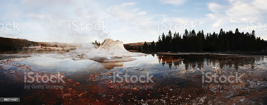 Castle Geyser Panorama royalty-free stock photo