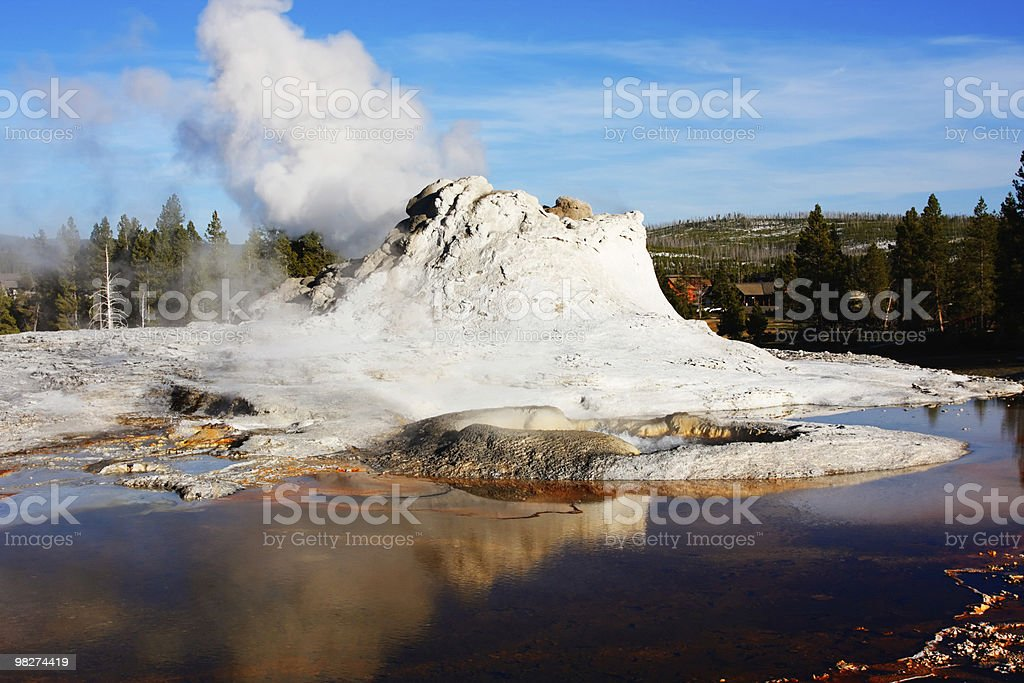 Castle Geyser royalty-free stock photo