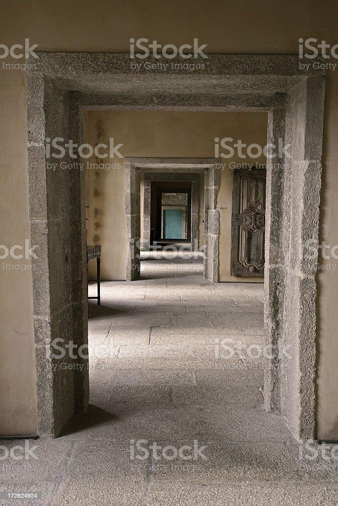 Castle hallway royalty-free stock photo