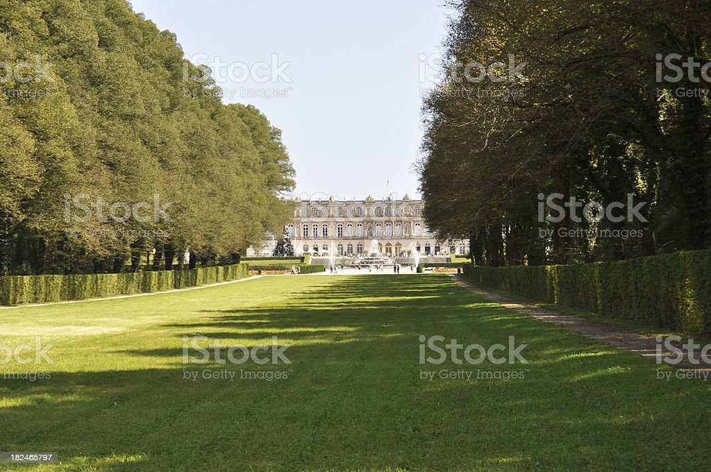 Castle Herrenchiemsee from Garden Side stock photo