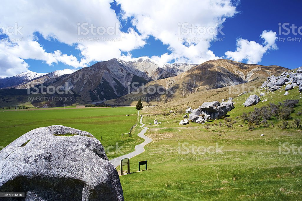 Castle Hill In Arthur's Pass royalty-free stock photo