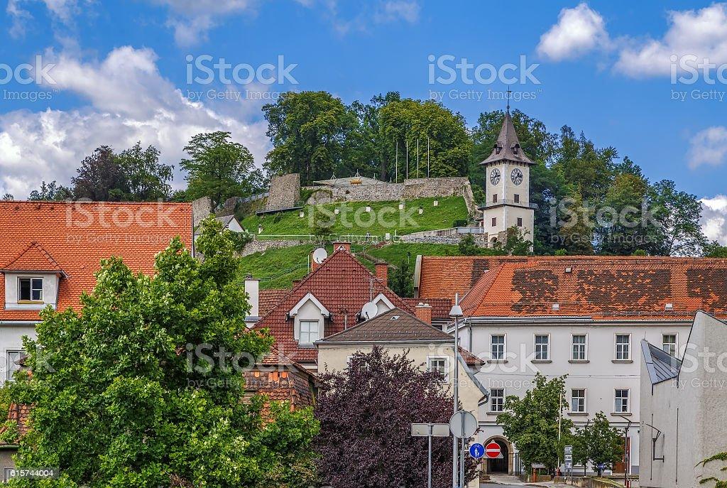 Castle Hill in Bruck an der Mur, Austria stock photo