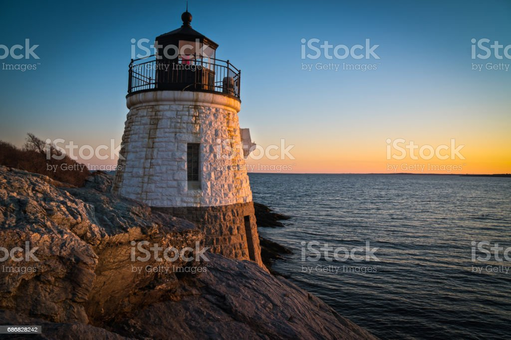 Castle Hill Light House stock photo