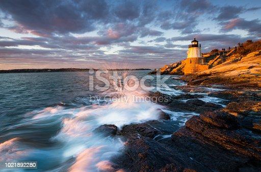 Rhode Island, Newport - Rhode Island, Lighthouse, Sunset, Atlantic Ocean