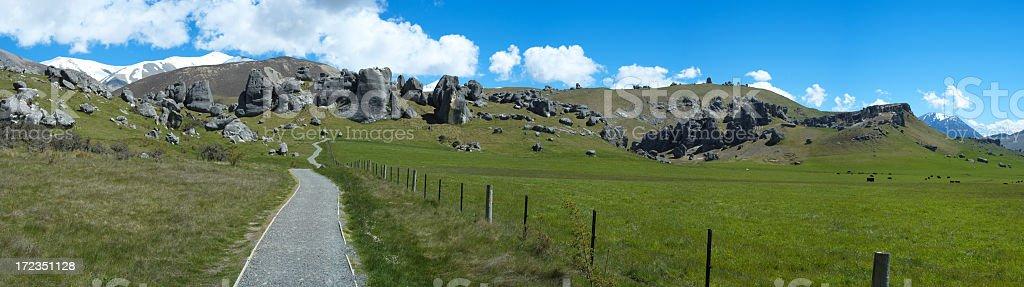 Colina del castillo Panorama foto de stock libre de derechos