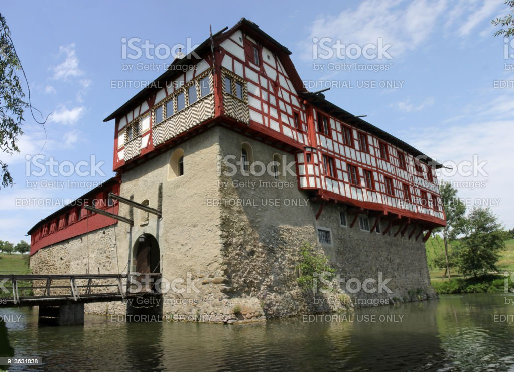 Castle Hinwil at Hinwil, Canton St Gallen, Switzerland stock photo
