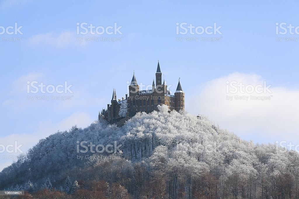 Castle Hohenzollern Wintertime Bottom stock photo