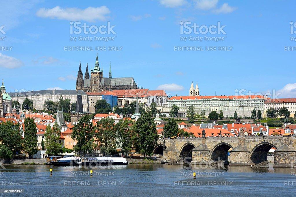 Castle Hradcany in Prague - Czech Republic stock photo