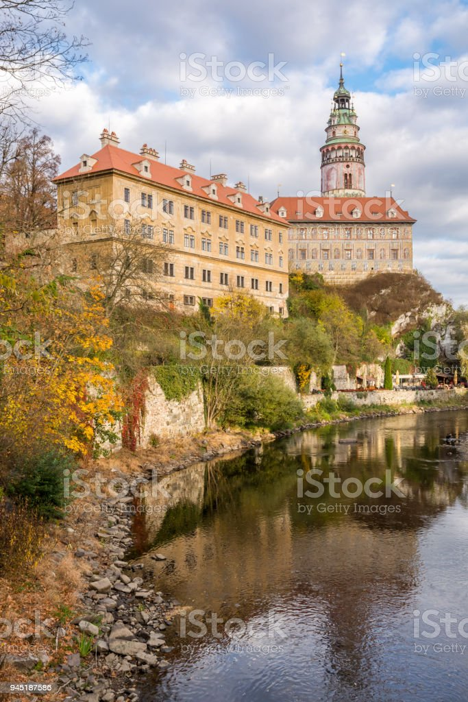 Castle in Cesky Krumlov stock photo