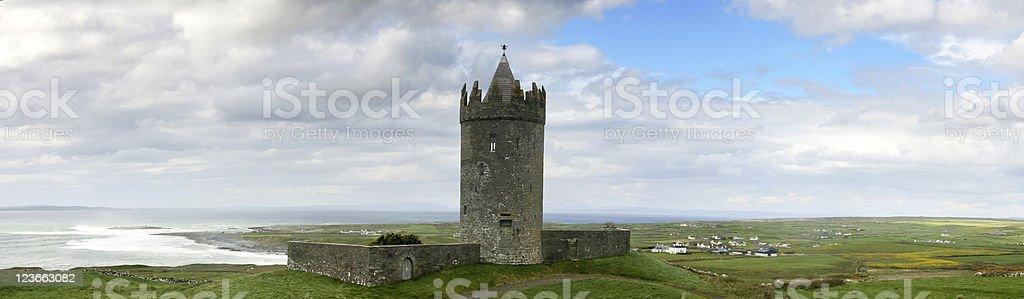 Castle in Doolin stock photo