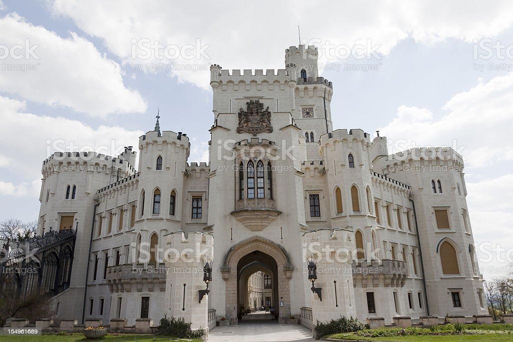 Castle in Hluboka nad Vltavou, Czech Republic stock photo