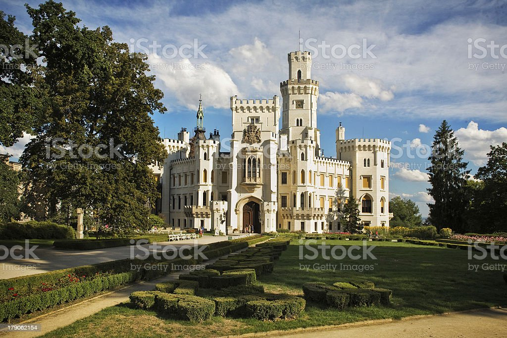 Castle in Hluboka nad Vltavou, Czech Republic stock photo