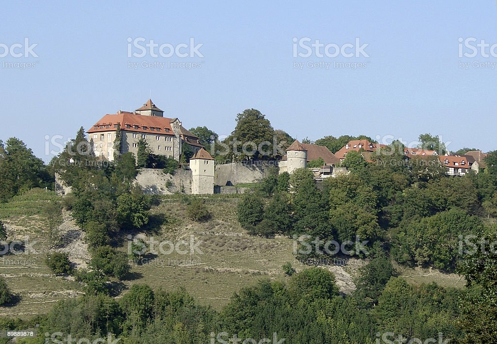 Castello in Hohenlohe foto stock royalty-free