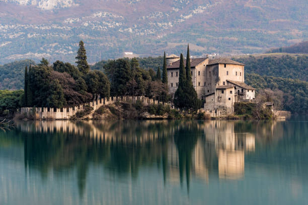 Castle in Italy stock photo