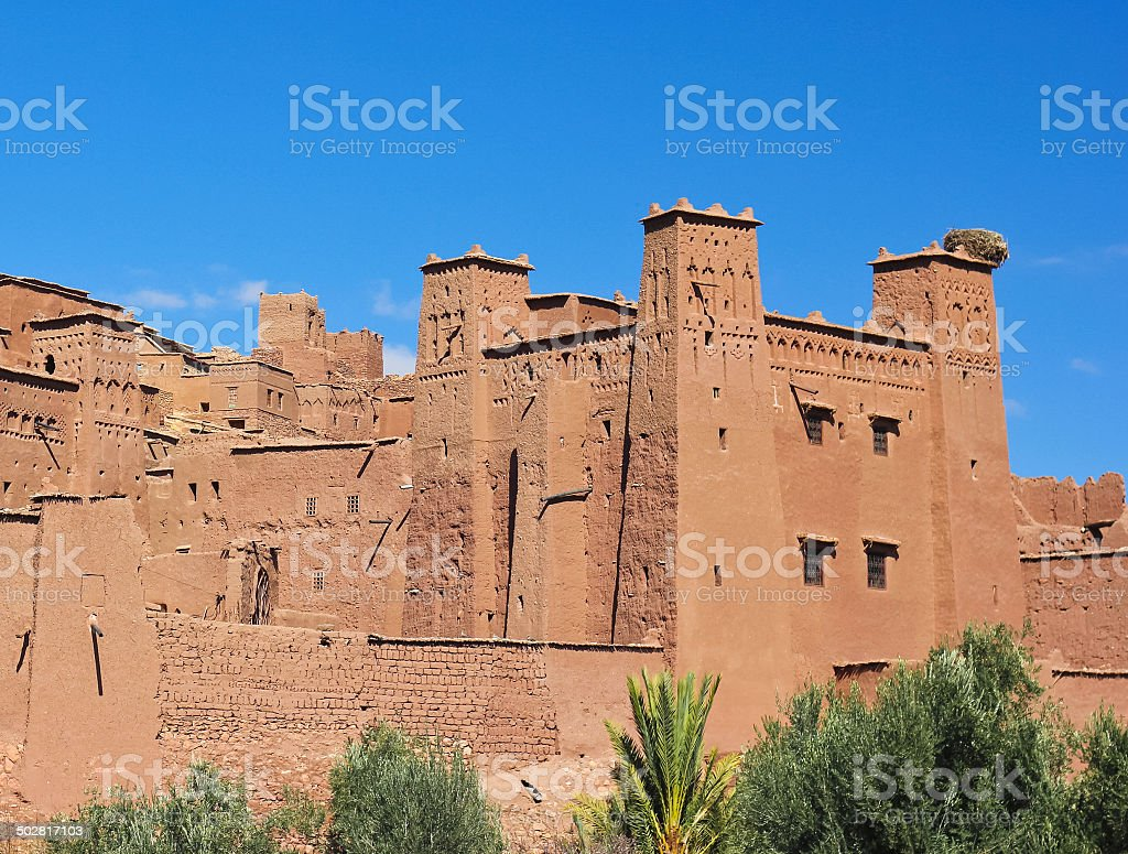 Castle in Morocco stock photo