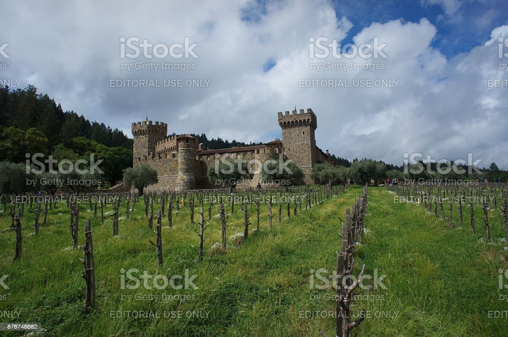Castle in Napa Valley stock photo