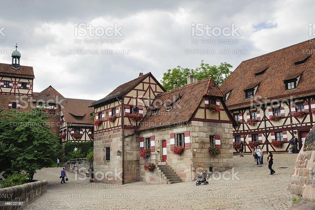 Castle in Nuremberg royalty-free stock photo