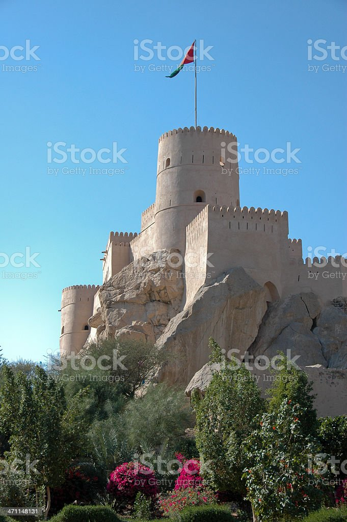 castle in Oman royalty-free stock photo