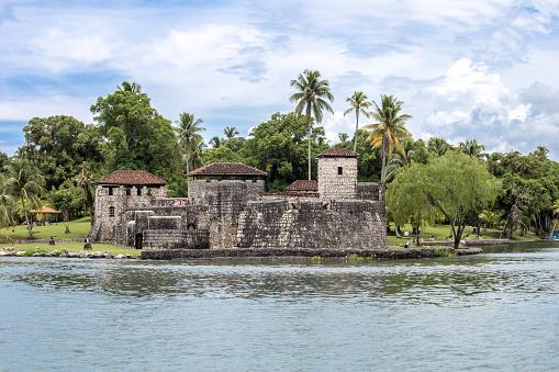 istock Castle in Rio Dulce - Guatemala 856931982