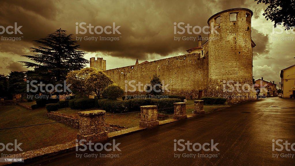 Castle in Savicenta Croatia stock photo