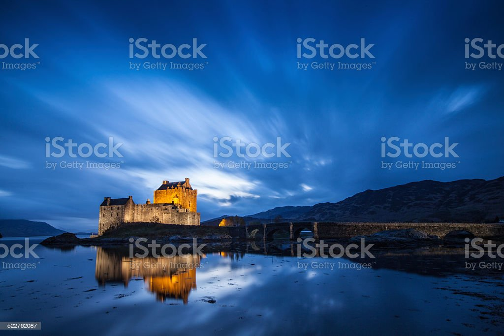 Castle in Scotland stock photo